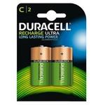 Duracell Orta Boy Pil C Şarj Edilebilir 2'li Paket