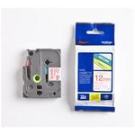Brother P-touch Tze-232 Tze-tape 12mm Beyaz Üzerine Kırmızı Laminasyonlu Etiket