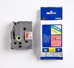 Brother P-touch Tze-451 Tze-tape 24 Mm Kırmızı Üzerine Siyah Laminasyonlu Etiket