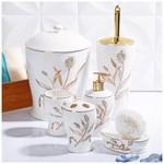 İhouse 906 Porselen 6 Parça Banyo Seti Beyaz