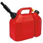 Tecomec Benzin Bidonu 6Lt-Yağ 3Lt Kırmızı