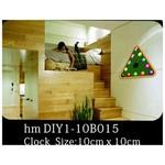 İhouse 10b015 Sticker Yapıştırma Duvar Saati Yeşil