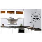 İhouse 10c12007 Sticker Yapıştırma Duvar Saati Siyah