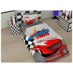 Örtüm Racing Tek Kişilik Kırmızı Ranforce Uyku Seti