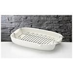 İhouse Rx14 Porselen Hasırlı Fırın Kabı Beyaz
