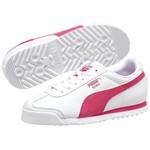 Puma 354259-221 Roma Basic White-Fuchsia Çocuk Spor Ayakkabı 3542