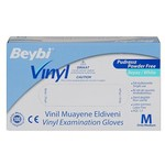 Beybi Muayene Eldiveni Vinyl Pudrasız 100 Adet Medium