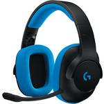 Logitech G233 Kablolu Gamıng Headset Black-cyan 981-000703