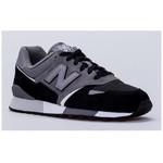 New Balance NB Unisex Lifestyle S, GREY/BLACK, D, 42 U446LGK