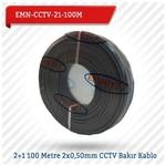 EMNIYET EMN-CCTV-21-100M 2+1 100 Metre 2x0,50mm CCTV Bakır 0