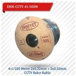 EMNIYET EMN-CCTV-41-500M 4+1 500 Metre 2x0,22mm + 2x0,50mm CCTV Bakır 0