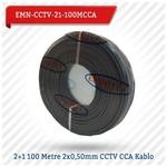 EMNIYET Emn-cctv-21-100mcc 2+1 100 Metre 2x0,50mm Cctv Cca Kablo