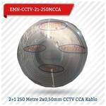 EMNIYET EMN-CCTV-21-250MCC 2+1 250 Metre 2x0,50mm CCTV CCA 0