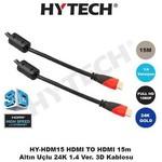 Hytech HY-HDM15 HDMI TO HDMI 15m Altın Uçlu 24K 1.4 Ver. 3D 0su