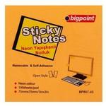 Bigpoint Yapışkanlı Not Kağıdı 75x75 mm 100 Yaprak Neon Turuncu
