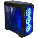 GAMEPOWER URANOS - Power Yok 3X12mm Mavi Fanlı Tempered Glass Gaming Mid-ATX Kasa