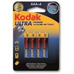 Kodak K3A-4-30959521 4 ADET AAA Ultra Premıum Aalkalin 1,5V İince 0
