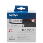 Brother P-TOUCH DK-22251 DK 62MM X 15M BEYAZ ÜZERİ SİYAH KIRMIZI ETİKET