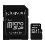 Kingston 32gb Microsdhc Canvas Select 80r Cl10 Uhs-ı Card + Sd Adapter