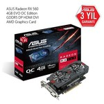 Asus Radeon RX 560 4GB EVO OC Edition Ekran Kartı RX560-O4G-EVO