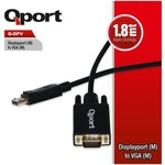 Qport Q-DPV Dısplay Port(M) To Vga(M) 1.8mt Kablo Çevirici Dönüştürücü