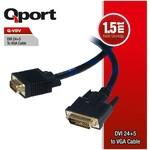 Q-Port Q-VDV 1.8M DVI To VGA 24+5 Converter Çevirici Kablo