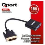 Qport Q-VDV2 Dvi 24+1 to VGA Aktif Dönüştürücü