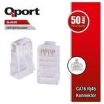 Q-Port Q-j650 Cat6 Rj-45 Konnektör (50 Li Paket)