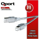 Q-Port Q-PR3 3 Metre USB 2.0 Yazıcı Printer Kablosu (Am-Bm)