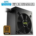 Sharkoon WPC650 650W 80+Bronze ATX PSU Tek 12V 585W/120mm Fan/3 Yıl Garanti/Flat Cabl