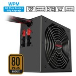Sharkoon WPM700 700W 80+Bronze ATX Modüler PSU Tek 12V 648W-140mm Fan-Aktif