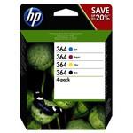 HP N9J73AE 364 Siyah-Mavi-Kırmızı-Sarı 4'lü Kartuş