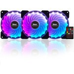 Power Boost RAINBOWKIT12 Power Rainbow 3xRGB Fan 1xFan Control 1xRemote (Combo kit)