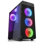 Power Boost VK-G1030RGB Power USB 3.0 Tempered Glass Pencereli RGB Fanlı Gaming Kasa