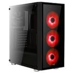 Aerocool Quartz 600W Kırmızı LED Mid Tower Kasa (AE-QRTZ-RD600BR)