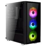 Aerocool AE-QRTZ-RGB750GD 750W 80+ Gold RGB Led Fanlı ve Güçlendirilmiş Camlı Siyah