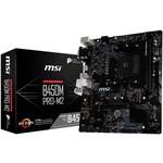 MSI B450M PRO-M2 AM4 DDR4 3466(OC) DVI VGA HDMI M.2 USB3.1 mATX