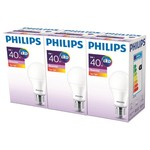 Philips ESS LED 6-40W Sarı Işık Normal Duy 3'lü Ekopaket