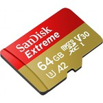 SanDisk 64GB MICRO SD EXTREME SDSQXA2-064G-GN6AA 64GB 160MB-S FOR ACTION SPORTS