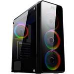 Power Boost VK-G3904S Power USB3.0 Full Siyah Arcylic Halo Rainbow RGB Fan kasa (PSU