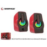 Snopy Rms-g7-kırmızı 6w Multimedya Kırmızı Usb Hoparlör