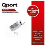 Q-Port Q-j710m Cat7 Metal Konnektör Rj45 Jack & Ayraç 10luk Paket