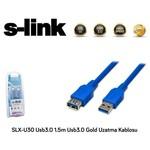 S-Link Slx-u30 1.5m Gold Usb3.0 Uzatma Kablosu