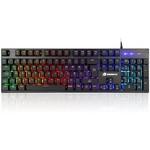 """GameBooster Gb-g76k G76k """"attack"""" Rainbow Aydınlatmalı Semi-mechanical Oyun Klavyesi"""