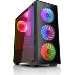 Power Boost Vk-g2052s Usb 3.0 Atx, Temp.glass Led Rgb Rainbow Fan, Siyah Kasa (psu