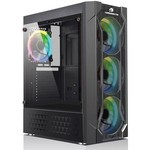 GameBooster Gb-l06b Usb3.0 Siyah Double Ring Rgb Fan Meshed Kasa (psu Yok)